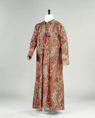 Lined Quilts Painting - Quilted Robe Of Cotton, Stained And Painted by Litz Collection