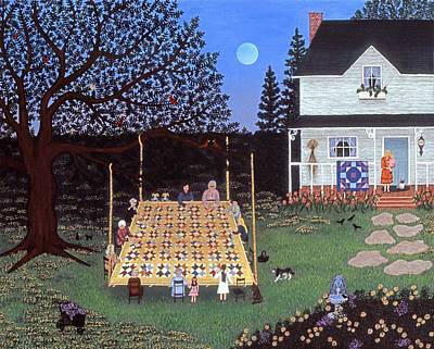 Moon Painting - Quilting In The Country by Linda Mears
