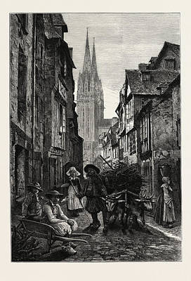 Quimper, Normandy And Brittany, France Art Print by French School