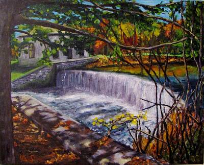 Painting - Quinapoxet River by Michael Saunders