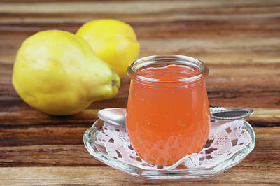 Jar Photograph - Quince Jam In Jar With Fruit, Close Up by Westend61