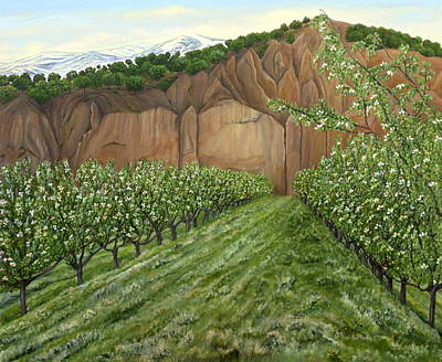 Granada Painting - Quince Trees by Angeles M Pomata