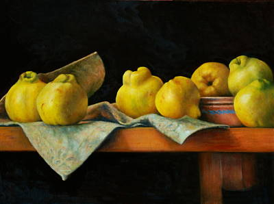 Petrov Painting - Quinces by Dan Petrov