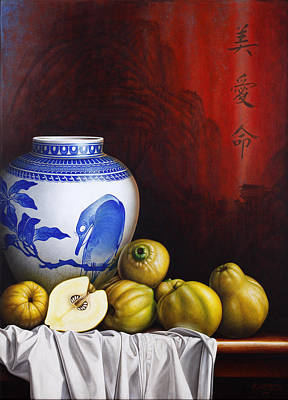 Quince Painting - Quinces by Horacio Cardozo