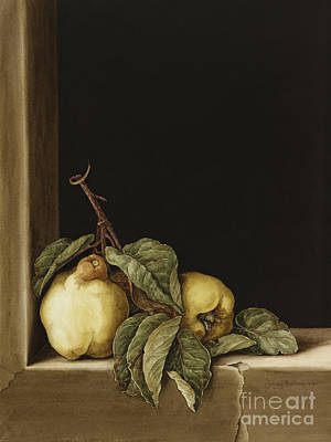 Window Sill Painting - Quinces by Jenny Barron