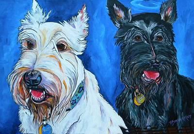 Painting - Quincy And Kramer by Patti Schermerhorn