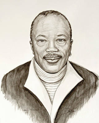 Painting - Quincy Jones by Art By - Ti   Tolpo Bader