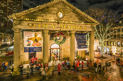 Photograph - Quincy Market At Christmas by Ludmila Nayvelt