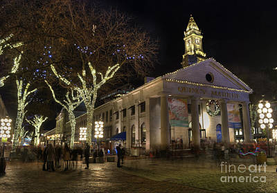 Photograph - Quincy Market Boston Massachusetts by Juli Scalzi
