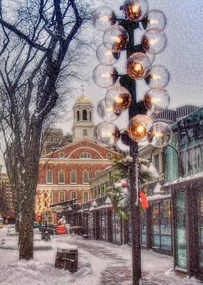 Christmas Cards Photograph - Quincy Market Christmas 2 by Joann Vitali