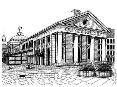 Quincy Market Art Print by Conor Plunkett