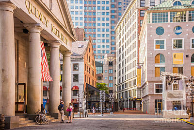 Photograph - Quincy Market Plaza by Susan Cole Kelly