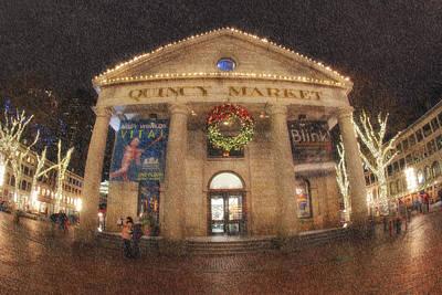 Boston Photograph - Quincy Market Snow by Joann Vitali
