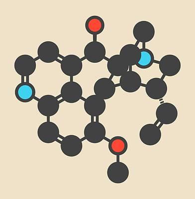 Quinine Malaria Drug Molecule Art Print