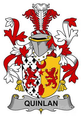 Quinlan Coat Of Arms Irish Art Print by Heraldry