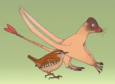 Quinlongopterus Size Comparison Art Print by Nemo Ramjet
