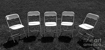 Folding Chair Photograph - Quintet by Olivier Le Queinec