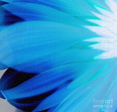 Blue Flowers Photograph - Quirky Blues by Krissy Katsimbras