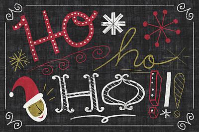 Quirky Christmas Santa Art Print