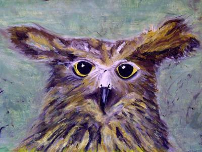 Pastel - Quirky Owl by Therese Legere
