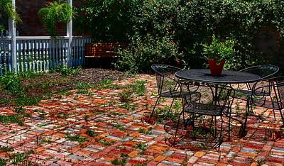 Photograph - Quite Little Patio by Debra Forand