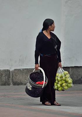 Photograph - Quito Fruitseller by Steven Richman