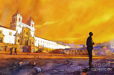 Quito Sunrise Art Print by Ryan Fox