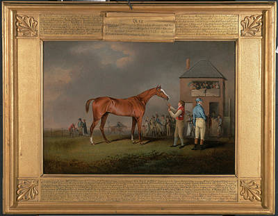 Quiz, After His Last Race At Newmarket Portrait Of `quiz Art Print