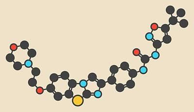 Quizartinib Drug Molecule Print by Molekuul