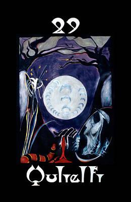 Painting - Qulielfi - The Moon by Linda Falorio