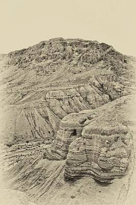 Photograph - Qumran Antiqued by Mark Fuller