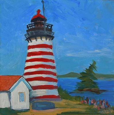 Painting - Quoddy Head Light I by Francine Frank