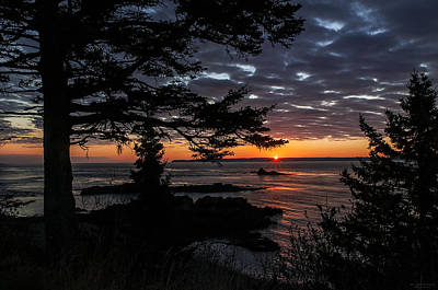 Ocean Vista Photograph - Quoddy Sunrise by Marty Saccone