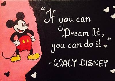 Disney Quote Art Print By Tina Mathew