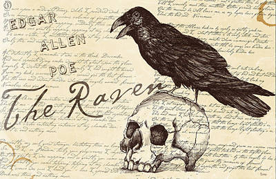 Victorian Death Digital Art - Quoth The Raven  by Timothy Ramos