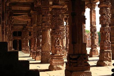 Photograph - Qutab Minar Pillars - New Delhi - India by Aidan Moran