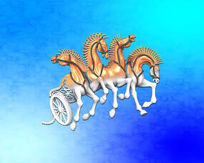 Horse Jewelry Sculpture - Qwadriga by Shalva Nanaziashvili