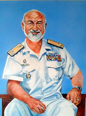 Painting - R Adm Koos Louw by Tim Johnson