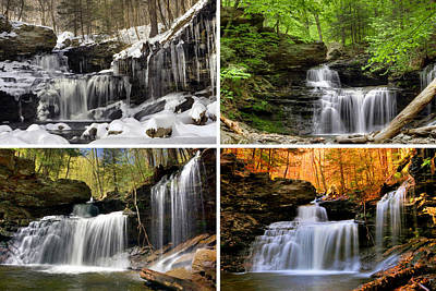 Photograph - R B Ricketts Falls In Every Season  by Gene Walls