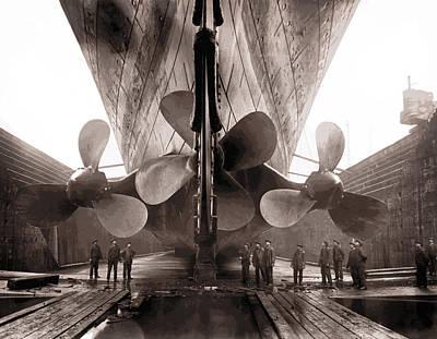 Catastrophe Digital Art - R M S Titanic Props  1911 by Daniel Hagerman