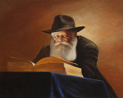 Rabbi Art Print by Felix Freudzon