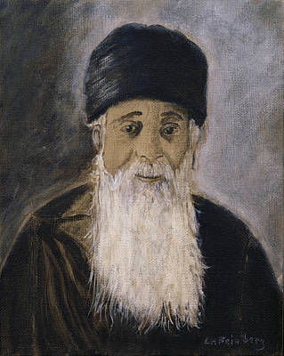 Painting - Rabbi Y'shia by Linda Feinberg