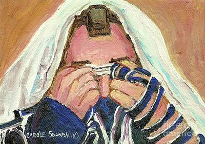 Kiddush Painting - Rabbi's Prayer For The Sabbath by Carole Spandau
