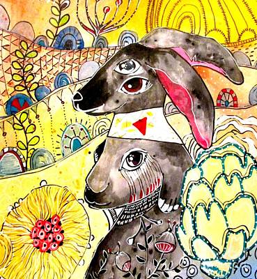 Painting - Rabbit 2 by Amy Sorrell