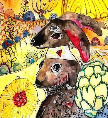 Painting - Rabbit by Amy Sorrell