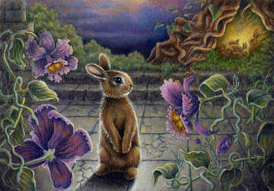 Boldness Painting - Rabbit Dreams by Retta Stephenson