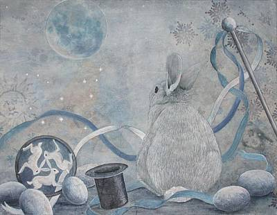 Painting - Rabbit Dreams by Sandy Clift