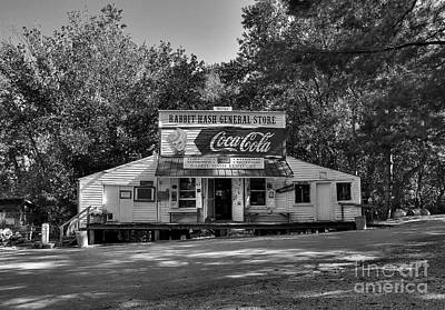 Coca-cola Signs Photograph - Rabbit Hash 2 Bw by Mel Steinhauer