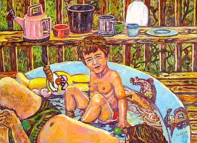 Painting - Rabbit In The Pool by Kendall Kessler