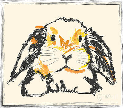 Rabbit Painting - Rabbit Jon by Go Van Kampen